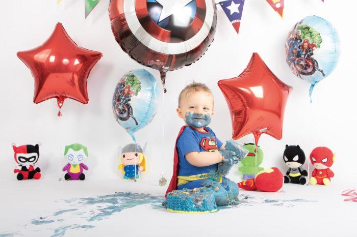 portfolio cakesmash jongetje superhelden