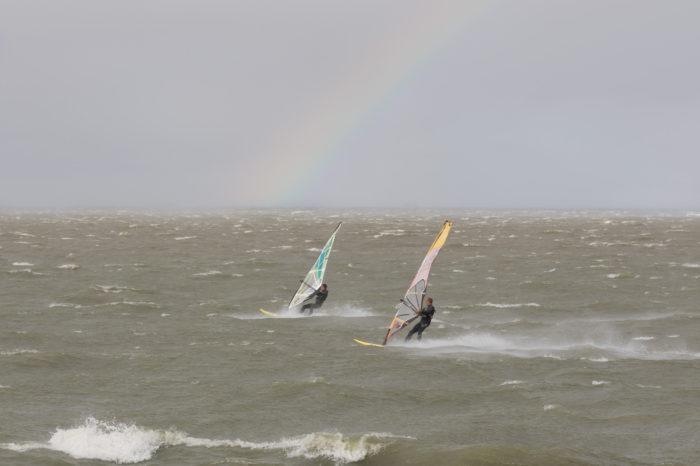 portfolio sport windsurfers hoekipadijk met regenboog